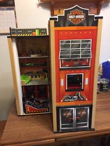 Harley Davidson garage play set