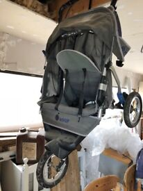 Double Buggy - InStep 3 wheeler with rain cover