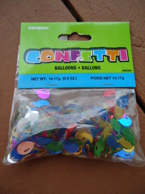 Foil Multi-Colored Birthday Balloons Confetti .5 oz.