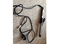 BaByliss hair curler curling tong 4 settings/ black silver
