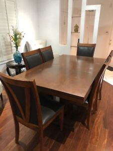 Solid Hardwood - Dining Table with six chairs for Sale.....