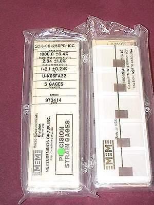 Vishay Micro Measurements Precision Strain Gages S2k-00-250pd-10c 5 Pack Gauges