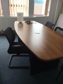 office furniture 2.6 meter cherry boardroom table