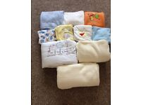 Bundle of baby and toddler blankets and throws, £5
