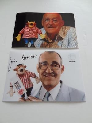 JIM BOWEN BULLSEYE SIGNED REPRINT BENDY BULLY DARTS TV LEGEND PHOTOGRAPHS