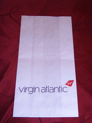 "2 X VIRGIN ATLANTIC "" PREMIUM ECONOMY "" AIRLINE AIR SICKNESS BAGS - UNUSED"