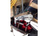 Dunlop Blue Flash left handed golf set, bag and size 9 golf shoes £25 01454 615080