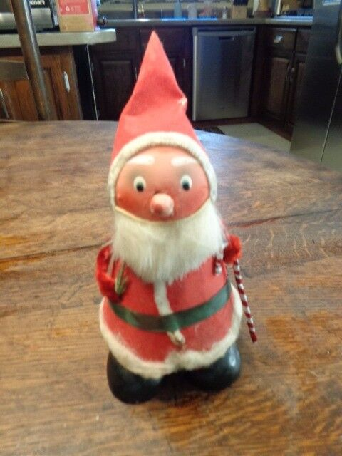 VINTAGE PAPER MACHE SANTA CANDY CHRISTMAS CONTAINER US ZONE GERMANY 8 1/2""