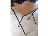 Fold away wooden childrens desks x 2