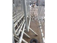 30 used crowd barriers 2.2mtr , galv steel tube
