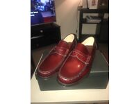 Loake Lifestyle PRINCETON BURGUNDY SIZE 10.5 RRP 120 only £70