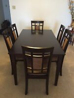Dining Room Set - Table and Six Chairs