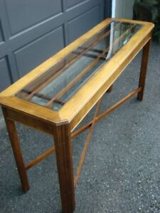 Glass Top Entrance Table