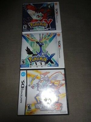 Pokemon Y And Pokemon X (Nintendo 3DS) White version 2 for DS (CASES ONLY)