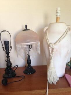 Pair of bedside table lamps and coffee table lamp Beaumont Hills The Hills District Preview