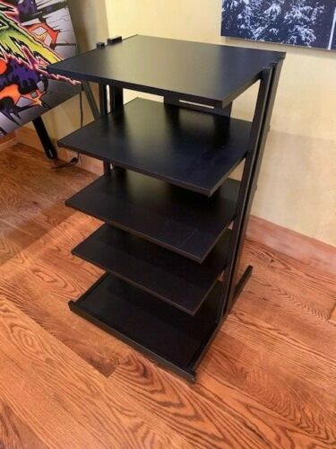 Audiophile High-End 5 Tier Black Component Audio Rack Stand