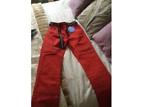 M & S Red boys trousers (Age 10/11 yrs) tags on, never worn