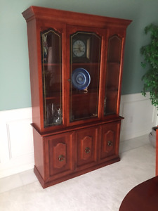 Beautiful Wood Display Cabinet