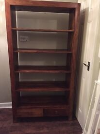 shelving and draw unit