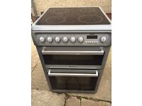 £138.00 Hotpoint grey ceramic electric cooker+60cm+3 months warranty for £138.00