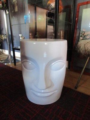 Toller VINTAGE Hocker-Beistelltisch-Kunstobjekt-Keramik