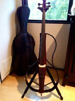 Yamaha SVC-110SK electric cello+bow+amp