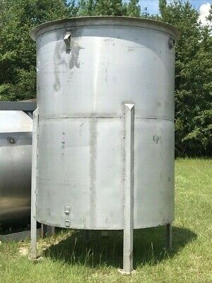 1500 Gallon Vertical 304 Stainless Steel Tank W Cone Bottom On Legs
