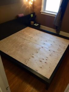 IKEA MALM King Bed Frame with Nightstand
