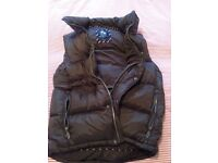 Man's Crew brown duck-down filled gilet size large as new