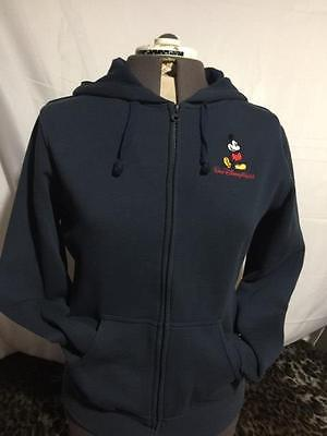 Women's Blue Disney Parks Mickey Mouse Zip Front Hooded Jacket Size Large