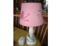 Kiddies Bedside Table Lamp Pink With Fairies 12v Working