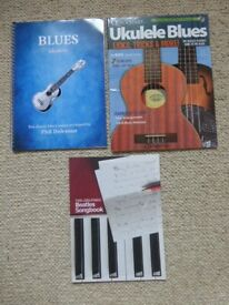 THREE BARGAIN MUSIC BOOKS FOR PLAYERS OF THE UKULELE AND GUITAR EXCELLENT CONDITION