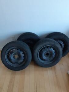 4 X 14 inch summer tires with rims - Negotiable