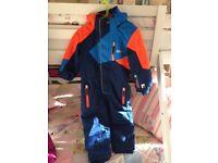 Navy / Orange / Blue Nevica Ski Suit Age 3-4.