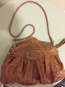 Excellent condition Tan and silver Guess Purses