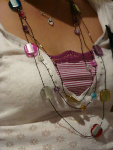 New Multi-Layers Colorful Plastic Beads Necklace