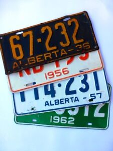 WANTED - 1922-1970 ALBERTA LICENSE & OTHER PLATES