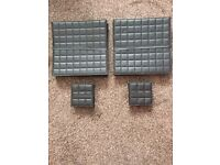black leather placemats and coasters x8