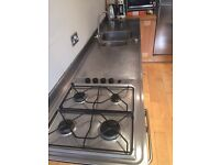 Stainless steel moulded double sink unit