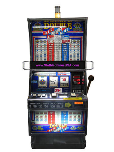 IGT Double Red White Blue Slot Machine For Sale