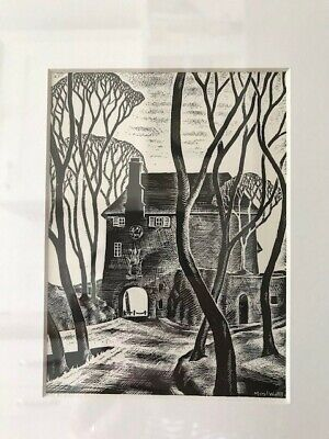 Meryl Watts, Portmeirion - 'The Gate House with Trees', Snowdonia, Framed