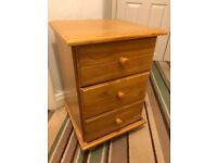 Small 3 Drawer Bedside Table