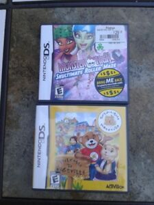 Like NEW- Nintendo Games- Build-A-Bear and Monster High