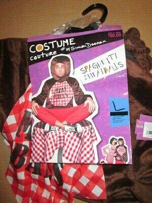 Mens MEATBALL Halloween Costume funny couples Sapghetti & Meatballs sz L Lg NEW
