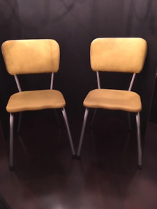 "VINTAGE ""1950's"" TUBULAR CHILDREN'S CHAIRS (SET OF 2)"