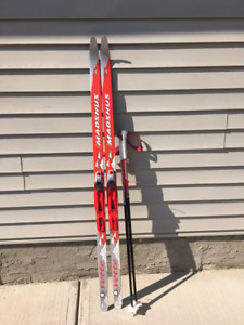 Cross country skis and poles for kid Madshus