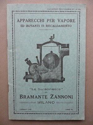 Apparecchi Per Vapore Impianti Di Riscaldamento Catalogo Industria Zannoni 1933