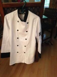 Chef Coat - White and Black- New Never Worn