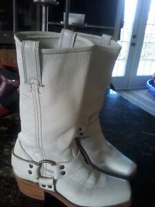 leather frye boots.....GORGEOUS COLOR BONE.......SOLD PENDING