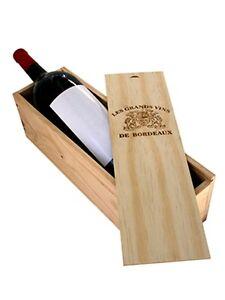 caisse bois vins 1 magnum avec couvercle glissi re ebay. Black Bedroom Furniture Sets. Home Design Ideas